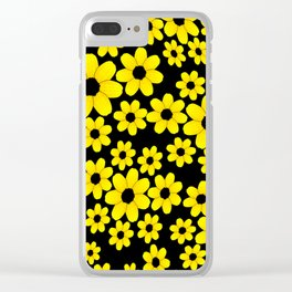flower-studded Clear iPhone Case