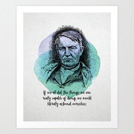 Thomas Edison - Science Portrait - Astound Ourselves Art Print