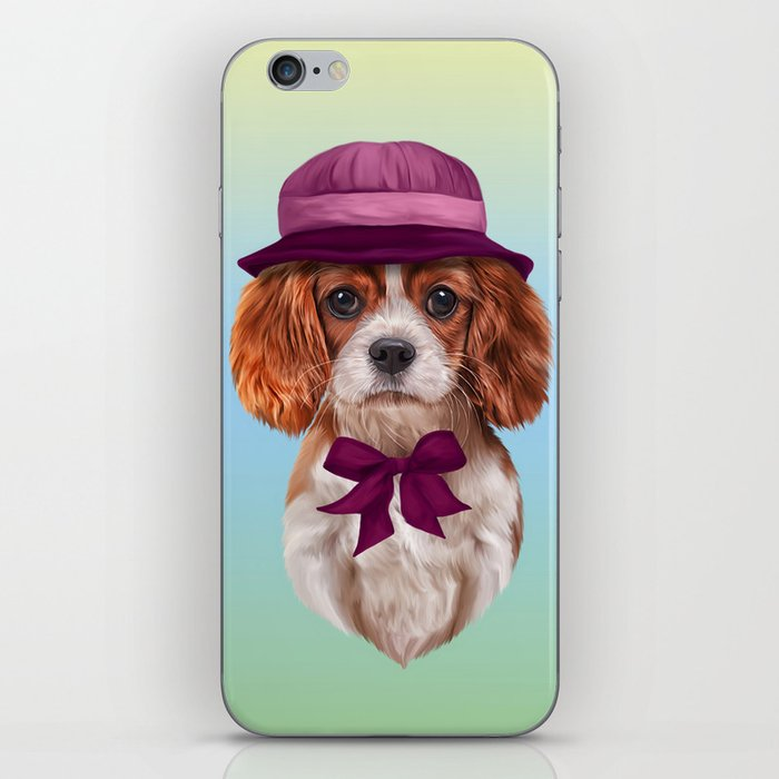 Drawing dog breed Cavalier King Charles Spaniel iPhone Skin