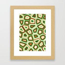 Hypnose verte Framed Art Print