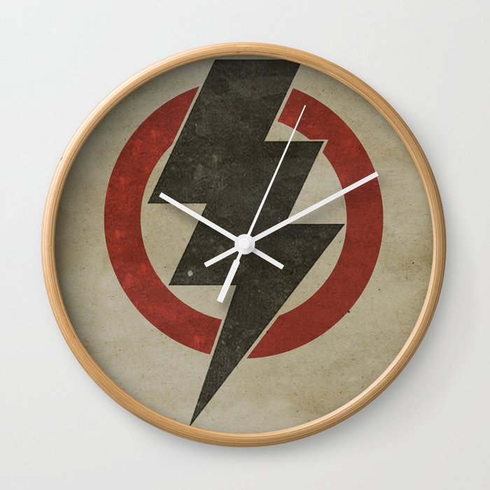 lightning strike zone Wall Clock