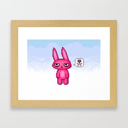 Grumpy Bun Framed Art Print