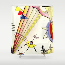Clear Connection by Wassily Kandinsky - Vintage Painting Shower Curtain