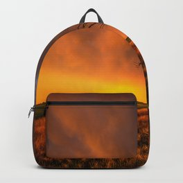 Fascinations - Warm Light and Rumbles of Thunder in Oklahoma Backpack