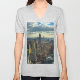 View Of New York City Unisex V-Neck