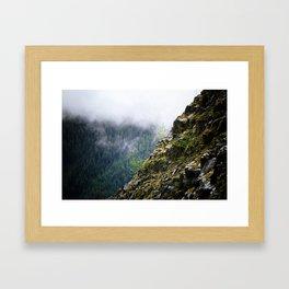 Rocky Cliff Face Framed Art Print