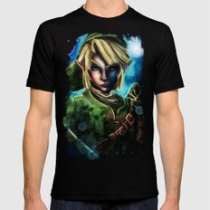 Legend of Zelda Link the Epic Hylian MEDIUM Black Mens Fitted Tee