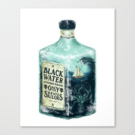 BLACK WATER Canvas Print