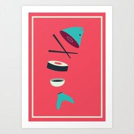 Sushi Fish Art Print