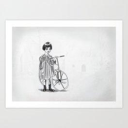 The little ghost. Art Print