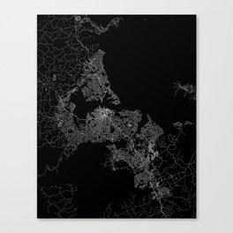 Auckland map New Zeland Canvas Print