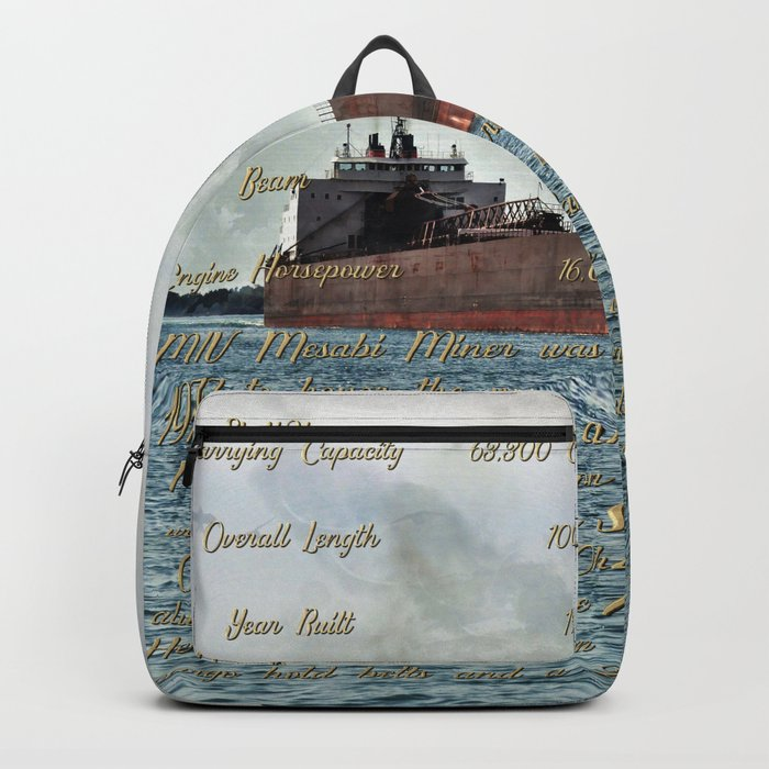 Mesabi Miner freighter and Stats Rucksack