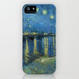 Starry Night Over the Rhône iPhone Case