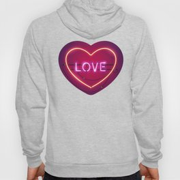 Pink Love in the Heart Neon Sign Hoody