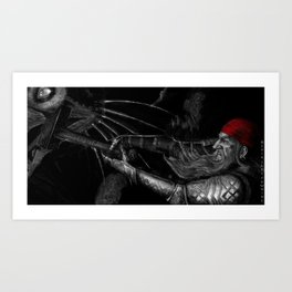Dwarf vs. Hook Horror  Art Print
