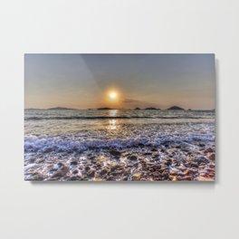Turkey Beach Sunset Metal Print