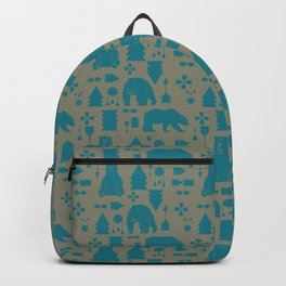 Tribal Bear Blue Backpack