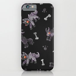 Poochyena & Mightyena pattern iPhone Case