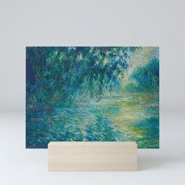 Claude Monet Morning on the Seine Oil Paintng Mini Art Print