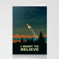 i want to believe Stationery Cards featuring I want to believe by mangulica