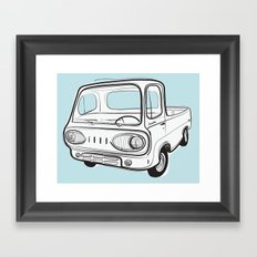 econoline pick-up Framed Art Print
