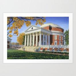 The Rotunda, UVA Art Print