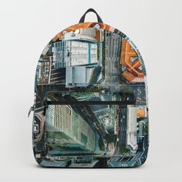 Aerial Cityscape View (Color) Backpack