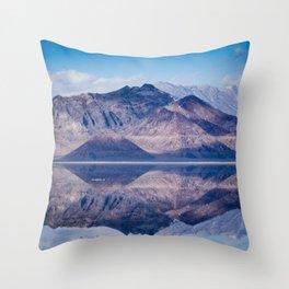 Reflected Mountains Throw Pillow