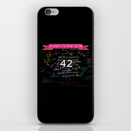 The answer to the ultimate question 42 iPhone Skin