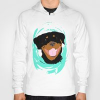 rottweiler Hoodies featuring Rottweiler graphic on Mint by Moni & Dog