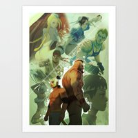 street fighter Art Prints featuring Street Fighter by jaimito