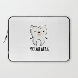 Molar Bear Cute Polar Bear Tooth Pun Laptop Sleeve