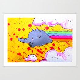 Elphant Rainbow Blast! Art Print