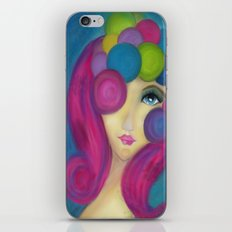 Blue Face Girl w/o Quote iPhone & iPod Skin