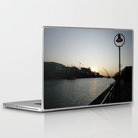 dublin Laptop & iPad Skins featuring Dublin Dawn by John Morris