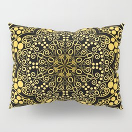 Gold mandala Pillow Sham