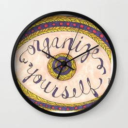 Organize Yourself Wall Clock