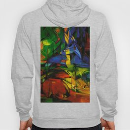 Deers in Wood by Franz Marc Hoody