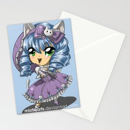 Neko Kitty Girl Chibi Stationery Cards