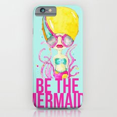 golden.  a happy mermaid iPhone 6s Slim Case