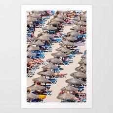Summer day beach Art Print