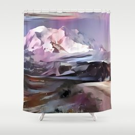 Blush Denali Shower Curtain