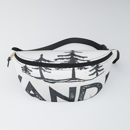 WANDER Forest Trees Black and White Fanny Pack