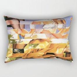 Glitch Pin-Up Redux: Xena Rectangular Pillow