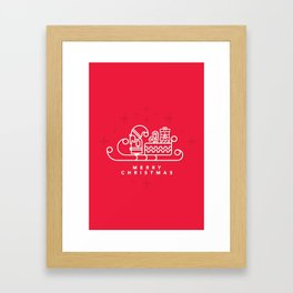 SANTA! Framed Art Print