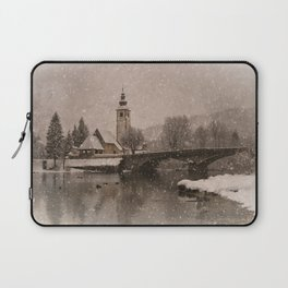 Lake Bohinj With The Church of St John the Baptist Laptop Sleeve