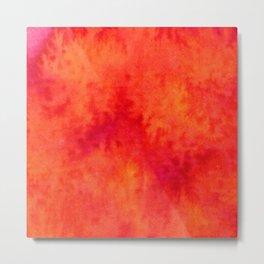 Sunset Blush Red Metal Print