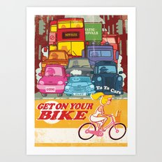 Going Nowhere Fast! Art Print