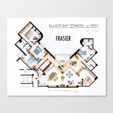 Frasier's Apartment Houseplan - V.2 Canvas Print