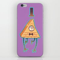 bill cipher iPhone & iPod Skins featuring Gravity Falls - Bill Cipher pixel by desmormos